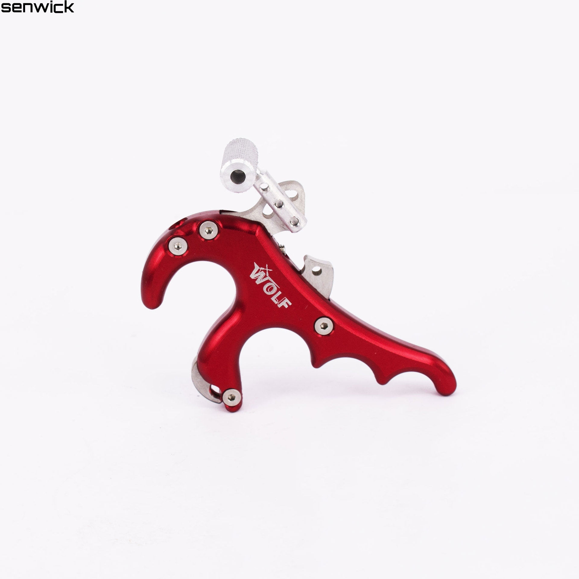 ФОТО New FIVE COLOR WOLF 440C Stainless Steel Release Aid Archery Caliper Release For Compound Bow Archery Arrows And Bow Release