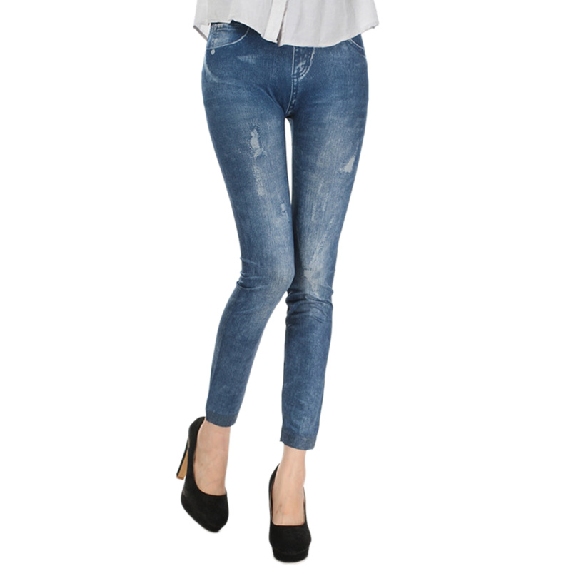 Slim Leggings Jean Skinny-Pants Stretchy Fashion Denim Hot-Sale