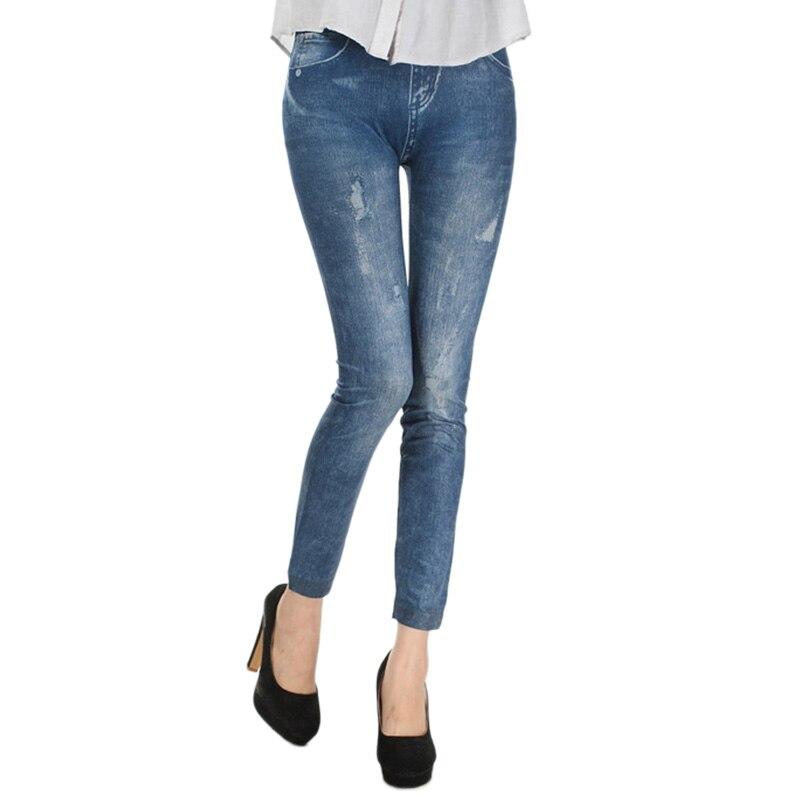 Hot Sale Sexy Women Jean Skinny Jeggings Stretchy Slim   Leggings   Fashion Skinny Pants Denim Legins Women