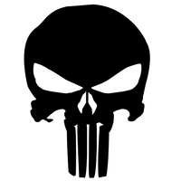 2X 2017 Hot Car Styling Classic Punisher Skull Car Sticker For Cars Side Truck Window SUV