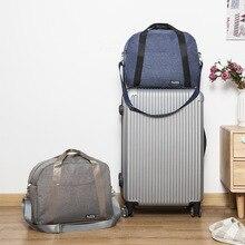 купить Large Capacity Canvas Travel Bag Waterproof Luggage Storage Organizer Bag Portable Handbag Duffel Bag Weekend Shoulder Bag по цене 1555.98 рублей