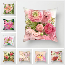 Fuwatacchi Euro Style Home Decor Cushion Cover Rose Flower Throw Pillow for Sofa Mediterranean Case Mothers Day
