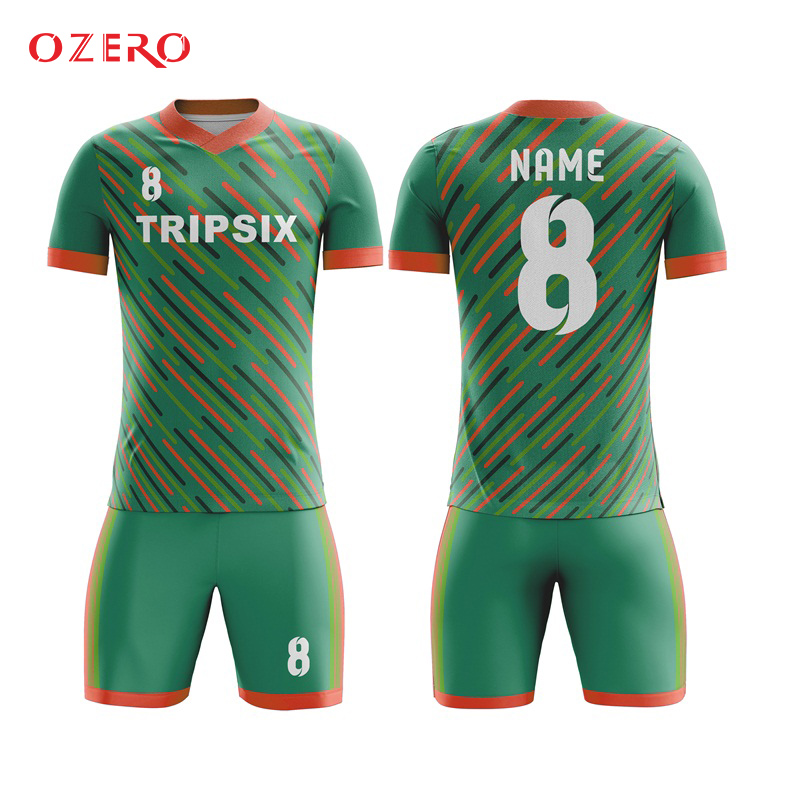 army green color men football shirts,thai quality football shirt, 3d sublimation soccer jersey