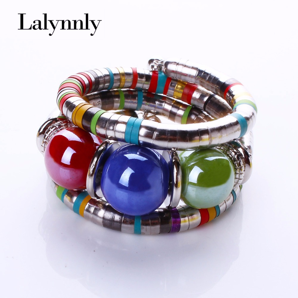 LALYNNLY muoti rannekorut rannekorut naisille hartsiseos Tiibetin rannekorut ja rannekorut Säädä rannekorut tarvikkeet lahjat B02351