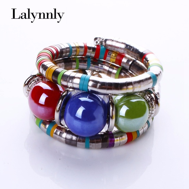 LALYNNLY Fashion Bracelets Bangles For Women Resin Alloy Tibetan Bracelets & Bangles Adjust Bangles Accessories Gifts B02351