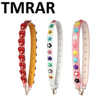 New 2019 fashion handbag strap with studs flower pearl lady chic own design square stud bag straps women lovers presents qn344(China)