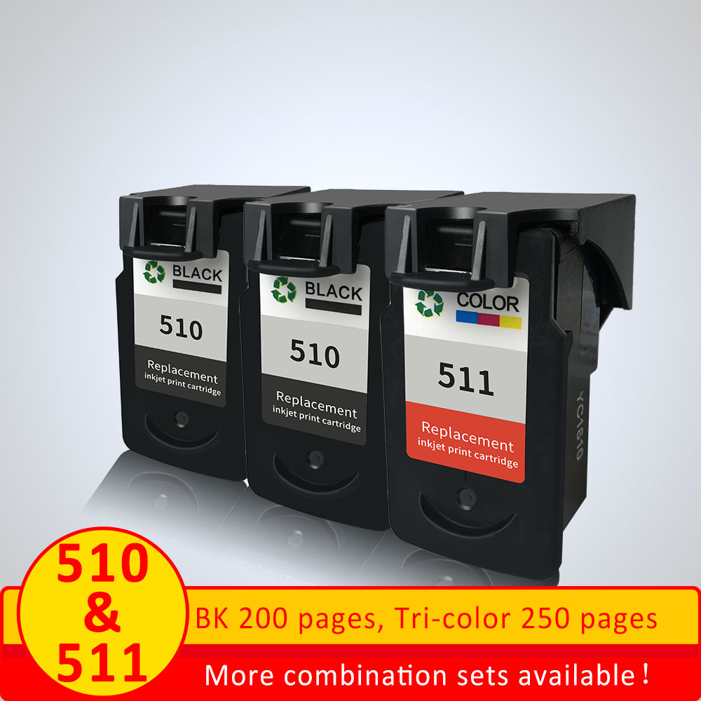 XiangYu pg-510 PG 511 XL Ink Cartridge Replacement For Canon PG 510 PG-511 PG510XL Compatible for Canon / MP230 / MP2510 / MP250