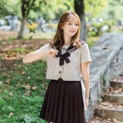 Uphild 2019 Лето Горячая Распродажа Косплей костюмы моряка девушка школьная форма темно-синий стиль школьная форма для японской средней школы