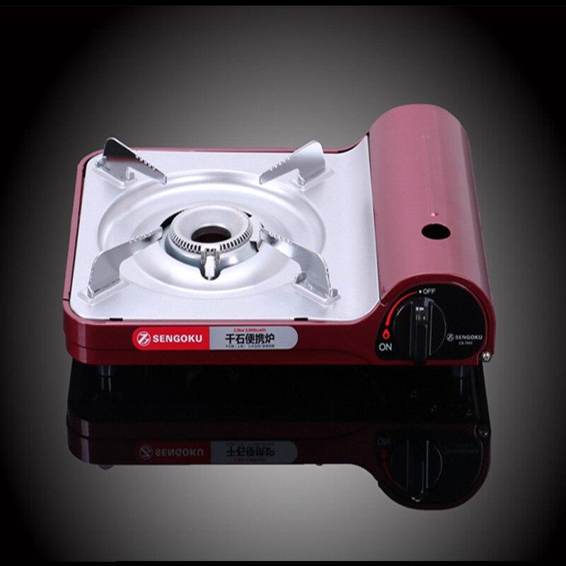 Cuisinière à gaz Portable Ultra-mince poêle à la maison en alliage d'aluminium pique-nique en plein air Camping cuisinière à gaz Portable four à Butane - 3