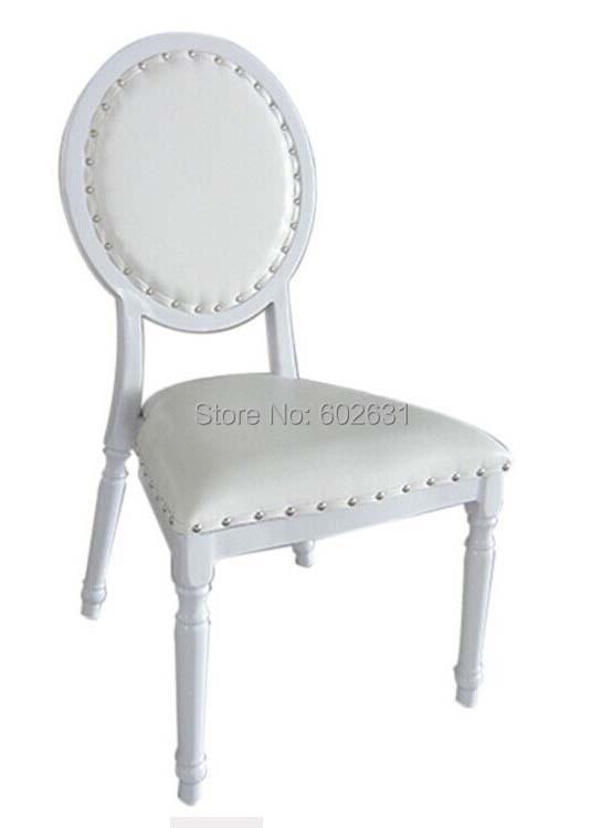 White Aluminum Royal Wedding Chair Banquet Chair Hotel Chair