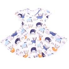 2019 ליל כל הקדושים קצר שרוול בנות מסובב שמלת ילדים Clothings אור צבע סתיו/חורף שמלות חלב משי Twril שמלת עבור פעוט