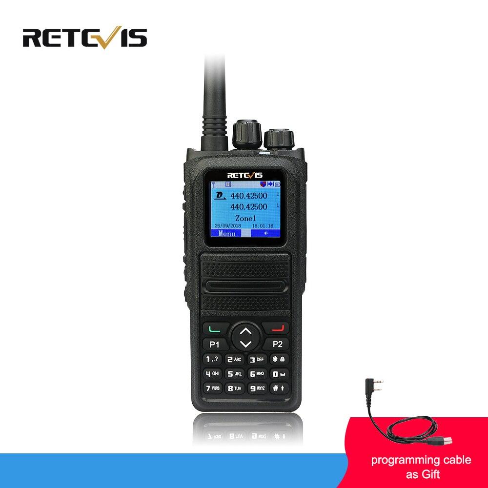 Retevis RT84 DMR Dual Band Talkie Walkie 5 W VHF UHF DMR Numérique/Analogique Deux-way Radio Émetteur-Récepteur portable Ham Radio Amador + Câble