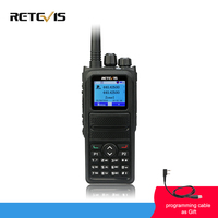 Retevis RT84 DMR Dual Band Walkie Talkie 5W VHF UHF DMR Digital/Analog Two way Radio Transceiver Portable Ham Radio Amador+Cable