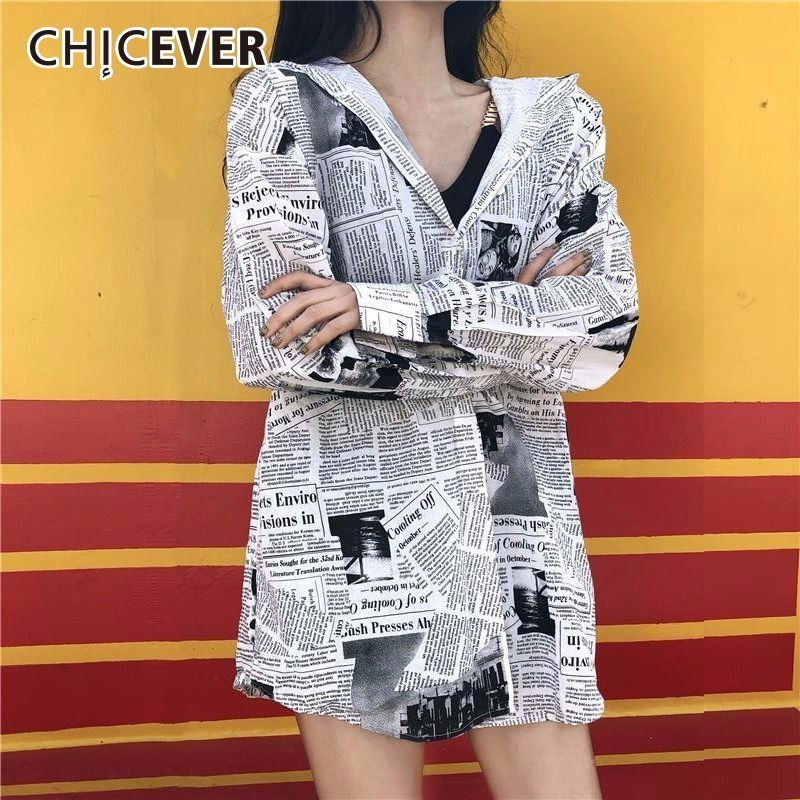 CHICEVER Print Fashion Woman Blouses 2018 Vintage Summer Top Lapel Batwing Sleeve Loose Womens Shirt Vintage Clothes Fashion