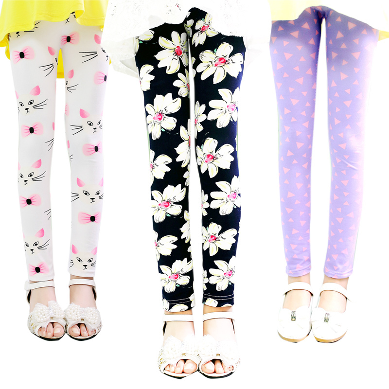 winter Leggins Girls Kids warm trousers Floral Girl Pants baby Girl Clothes Skinny Pencil Pants Toddler Leggings image