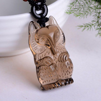 Ice obsidian fox pendant Men and women with the affair The small three hang drop Attached one certificate