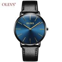 OLEVS Ultra Thin Watches Top Brand Luxury Wristwatch Men Business Quartz Clock Sport Man Watch Genuine