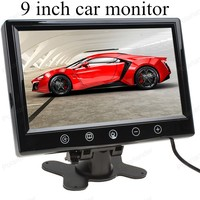 car monitor small display 9 inch digital Color TFT LCD with 2 Video input lcd for reversing parking backup rear view camera