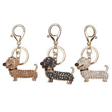 New Fashion Dog Dachshund Keychain Bag Charm Pendant Keys Holder Keyring Jewelry For Women Girl Gift Keychain Jewelry(China)