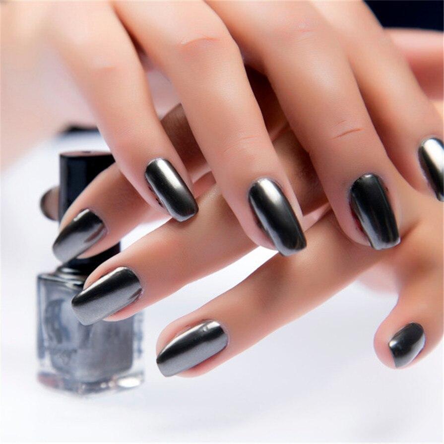 Craney 2017 espejo uñas cola de plata Metal Color espejo de acero ...