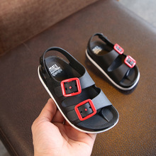 2019 New Boys Sandals Children Summer Beach Shoes for Kids Sports Soft Anti-slip Casual Toddler Baby Leather Flat Sandals 23-32