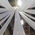 Высококачественная Белая шифоновая драпировка потолочная шифоновая Швабра для свадеб и церемоний для украшения дверей