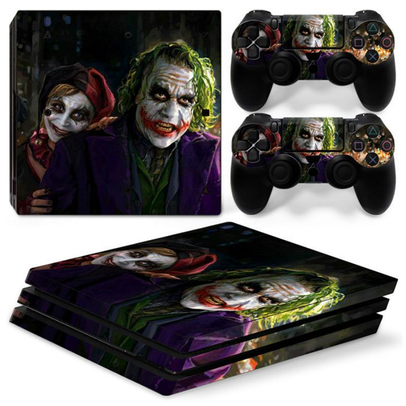 Harley Quinn Vinyl Skin For PS4 Pro Sticker Console+2 Controller Decal PCV Sticker For Sony Playstation 4 Pro Game Accessory
