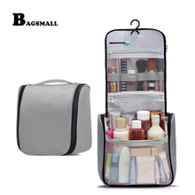 BAGSMALL Waterproof Toiletry Bag Large Capacity Cosmetic Bag Multi-function Travel Kit For Makeup Organizer With Hanging Hook