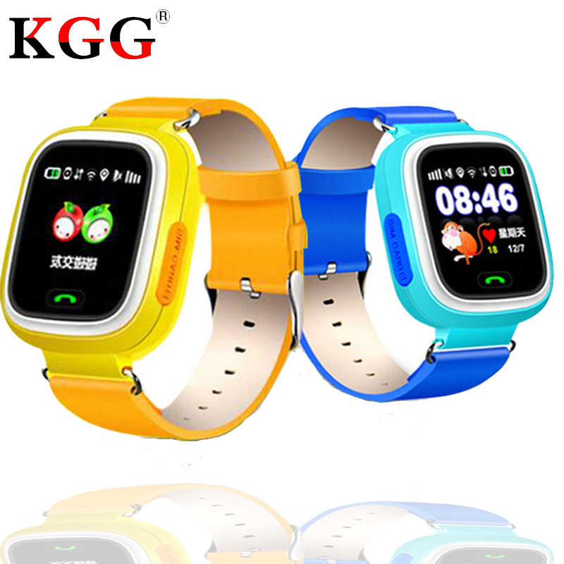 Q90 Children GPS Phone Positioning Watch 1.22 Inch Color Touch Screen WIFI SOS Smart Watch PK Q750 Q50 Q528