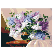 WEEN Blooming Flower Framed Pictures DIY Painting By Numbers Wall Art Acrylic Paintings Handpainted Home Decor For Living Room