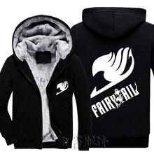 Здесь можно купить  Men Women Anime Cosplay Fairy Tail Guild Logo  Coat Winter Coat Velvet Warm Thick Leisure Hoodies Fleece Sweatshirts