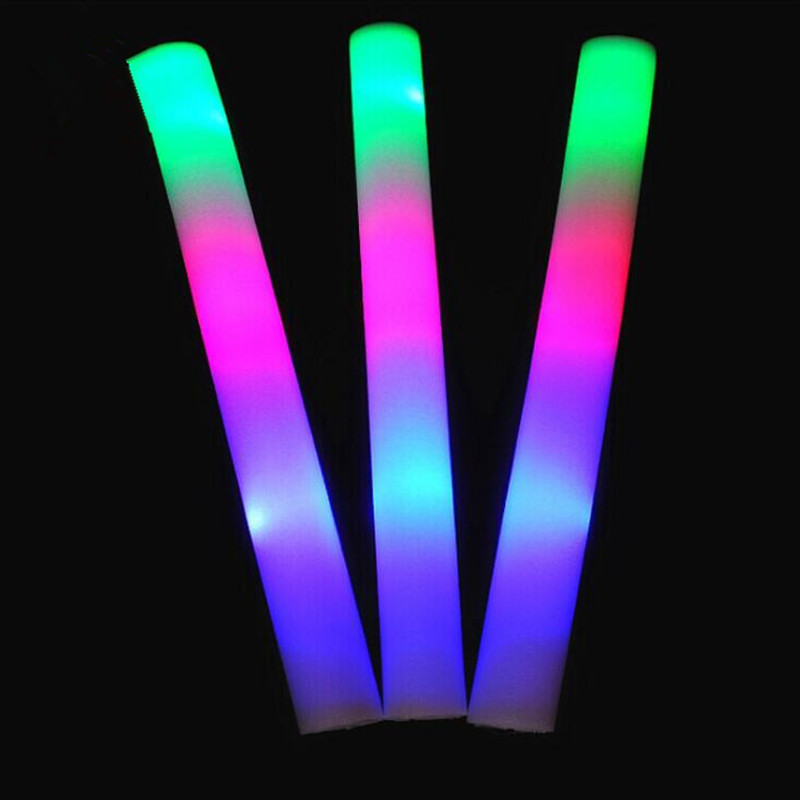 LED Flashing Foam Sticks Glowing Sticks Batons Toys Bar KTV Concert Cheer Props Halloween Glow Party