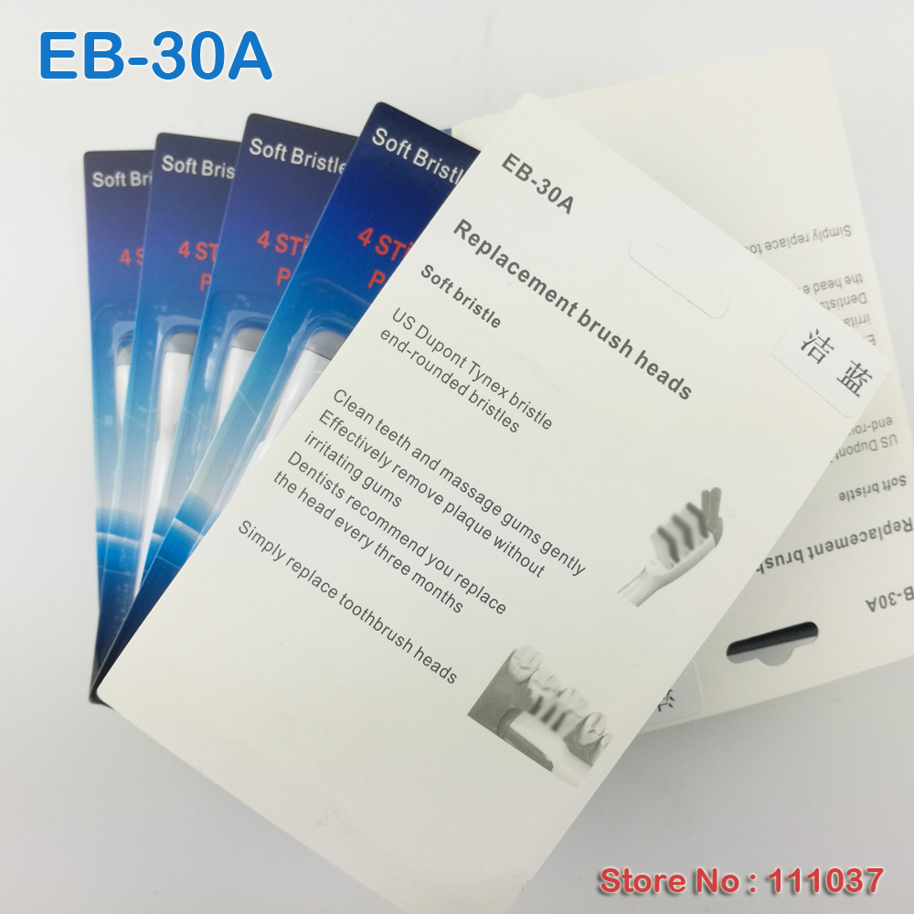 EB-30A Electric Toothbrush Heads Trizone Percision Clean Oral 20pcs(5pack) Free Shipping