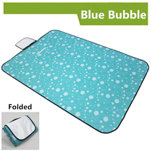 Mat 59″x78.7 inches Cute Blue Bubble 150x150cm Picnic Outdoor Mat Camping Tent Waterproof Customize Placemat 2016 Newest