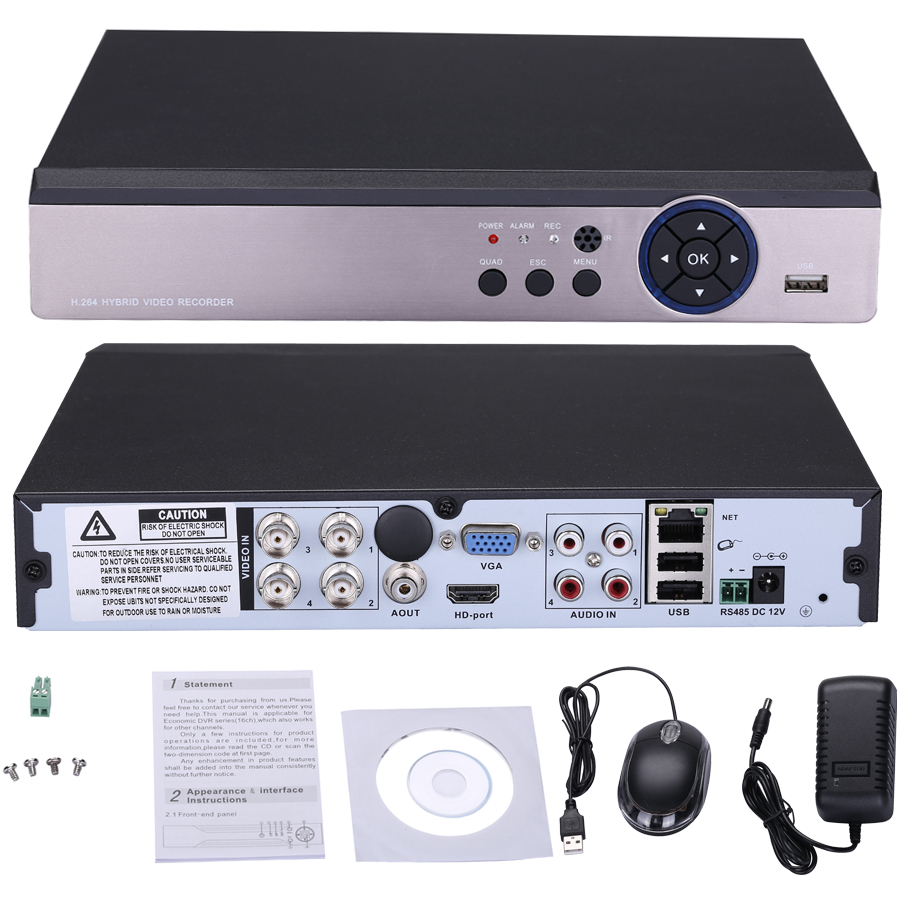 4MP CCTV DVR 4CH 5IN1 Hybrid Video Recorder Security DVR For 3MP 4MP AHD Camera Motion Detection Email Alert Remote Access 4MP CCTV DVR 4CH 5IN1 Hybrid Video Recorder Security DVR For 3MP 4MP AHD Camera Motion Detection Email Alert Remote Access