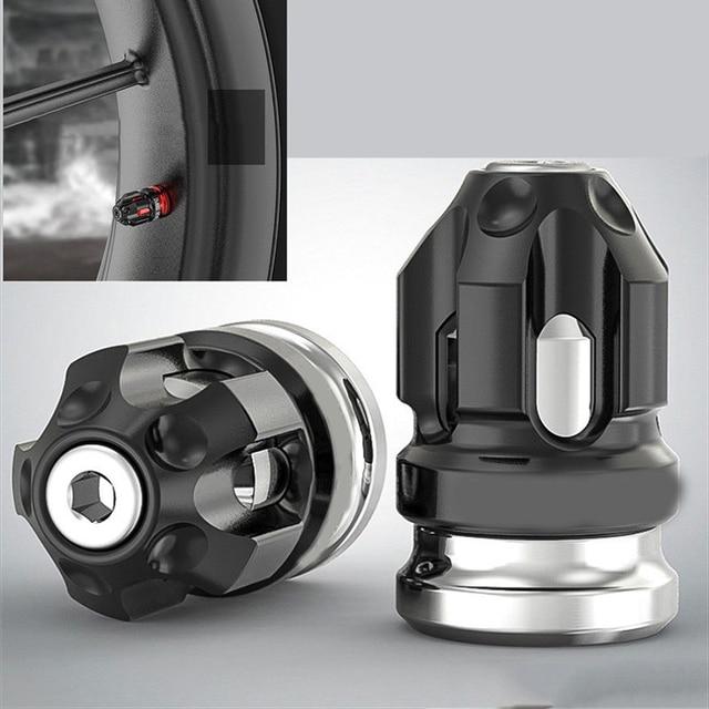 2pcs Motorcycle Accessories Tires Wheel Valve Cap Tire Mouthpiece Decoration CNC Aluminum Alloy Universal Motocross Tire