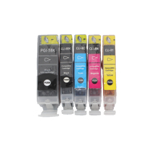 Full Ink 1Set 5pcs ink Cartridge PGI-5 CLI-8 for Canon PIXMA iP4200 iP4300 iP4500 MP500 iP5200  MP530 MP600 MP610 MP800 printer