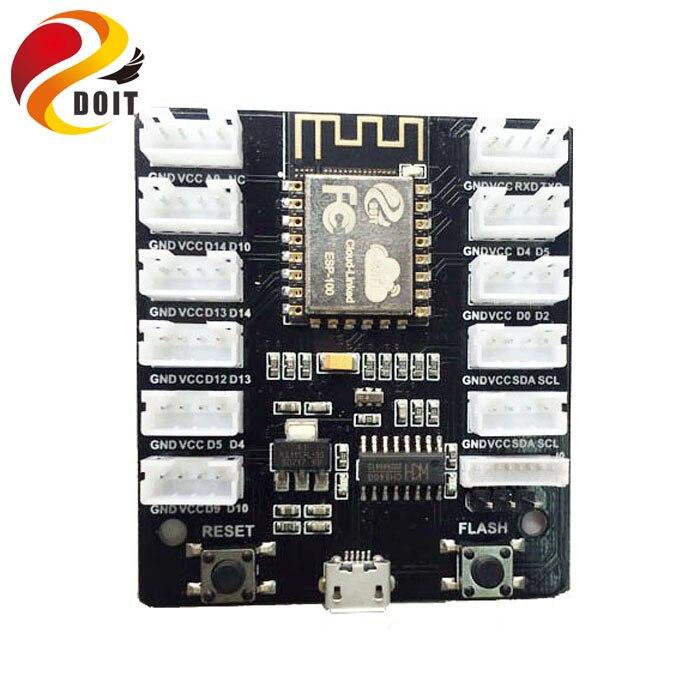 DOIT Grove Kit Sensor Shield IoT Extension Board ESP8266 WiFi Grove Board Kit PMS5003 WiFi Sensor Remote Control Shield esp 07 esp8266 uart serial to wifi wireless module