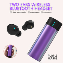 Multicolor Bluetooth headset with Mic waterproof Wireless cordless charging Mobile charger mini High quality comfortable 2in1