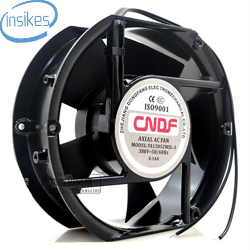TA15052MSL-3 Axial Industrial Cooling Fan AC 380V 0.14A 17050 170*150*50mm 17CM 2 Wires 50/60HZ delta 17050 17cm 24v 1 7a efb1724vhg cooling fan