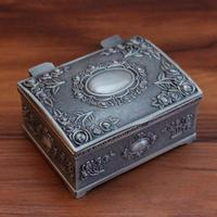 New Design Vintage Metal Pewter Tin Alloy Jewelry Gift Box Necklace Pendant Earrings Ring Packaging Boxes