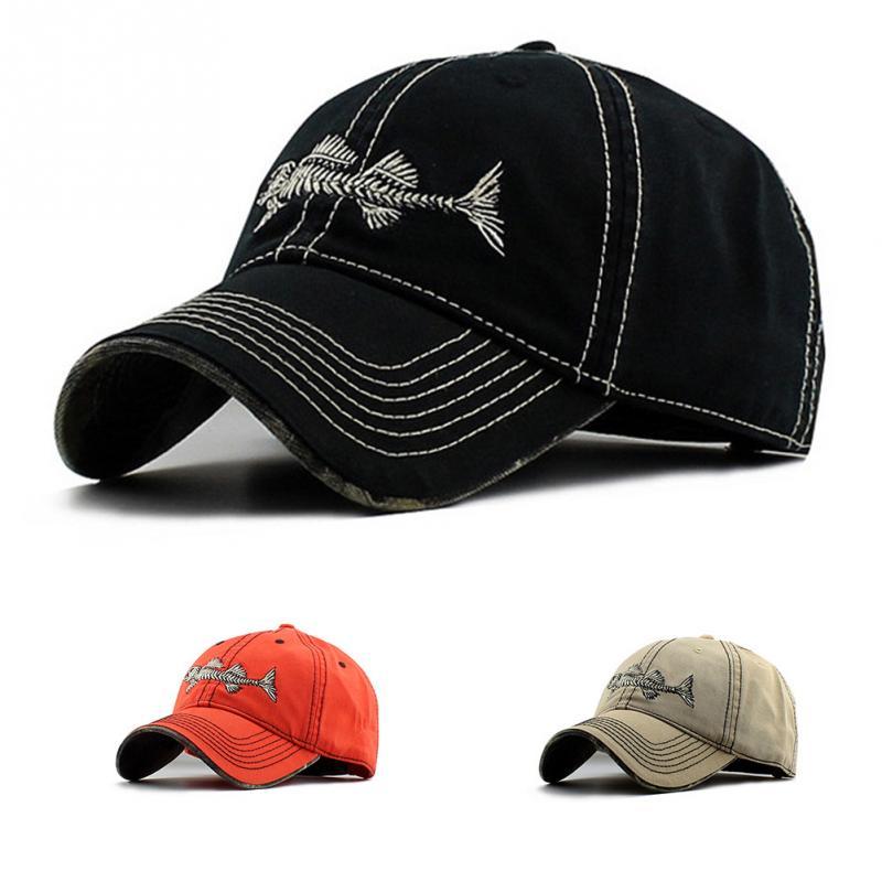 Multi Choices Baseball cap Mens Womens Boys fishbone embroidery Baseball Cap Adjustable Hats bone para bordar