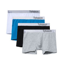0771cc236e48 TYTAZON Mens Middle Rise Men's Underwear Sexy Cotton Boxer Trunks Men Shorts  Double Stitches Tagless No Ride up with Fly White