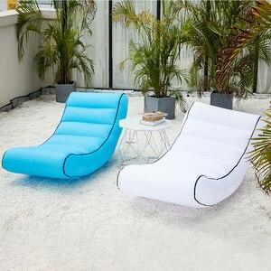 Image 3 - מקורה חיצוני שק שינה מתנפח ספה עבור תיירות קמפינג מזרן חוף תיק עצלן מיטת אוויר מיטת ערסל מחנה חוף כיסא