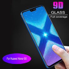 10pcs 9D full coverage Tempered Glass  For Huawei Honor 8X Screen Protector Protective Film Anti Blue Ray