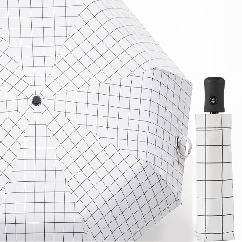 Портативный практичный мини автоматический зонт с мультяшным медведем Компактный Карманный Женский 5 складной зонт с черным покрытием Защита от солнца УФ - Цвет: Бежевый