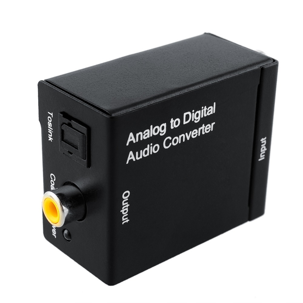 EMK Analog to Digital Audio TV Converter Adapter Optical Fiber Coaxial Toslink Signal Analog Audio Converter RCA for DVD