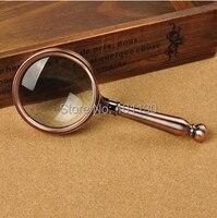 8x70mm Bronzed Lesen Lupe Haltegriff Lupe mit Großes Geschenk Box