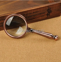 8x70mm Bronzed Reading Magnifying Glass Handhold Magnifier with Great Gift Box