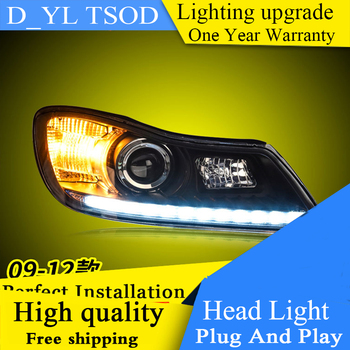 Auto Clud Car Styling For Skoda octavia headlights 09-12 For octavia head lamp front Bi-Xenon Lens Double Beam HID KIT